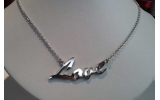 Collana Names argento platinato Love